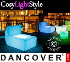 Event furniture: LED Sofa, Middle, Chill, 71x88x68 cm