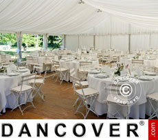 Marquee linings and leg curtain pack,white, for 6x12 m marquee