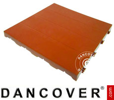 Plastic flooring Basic, Piastrella, Terracotta red, 40.32 m²