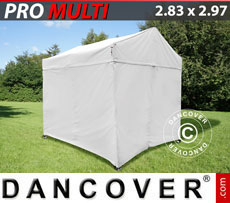 Pop up gazebo FleXtents Multi 2.83x2.97 m White, incl. 4 sidewalls