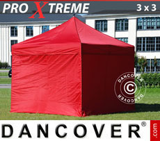 Pop up gazebo FleXtents Xtreme 3x3 m Red, incl. 4 sidewalls