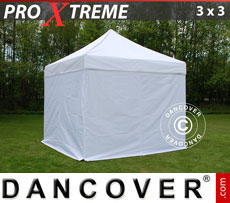 Pop up gazebo FleXtents Xtreme 3x3 m White, incl. 4 sidewalls