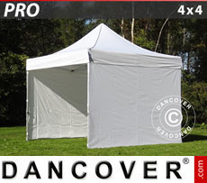 Pop up gazebo FleXtents PRO 4x4 m White, incl. 4 sidewalls