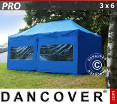 Pop up gazebo FleXtents PRO 3x6 m Blue, incl. 6 sidewalls