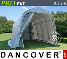 Portable Garage PRO 2.4x6x2.4 m PVC, Grey