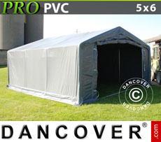 Storage shelter PRO 5x6x2x2.9 m, PVC