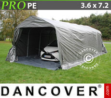 Portable Garage PRO 3.6x7.2x2.7 m PE, with ground cover