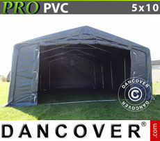 Storage shelter PRO 5x10x2x2.9 m, PVC
