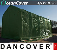 Boat shelter 3.5x8x3x3.8 m, Green