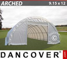 Storage shelter 9.15x12x4.5 m PVC 600 g/m²