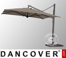 Cantilever parasol Galileo Maxi, 4x4 m, Grey taupe