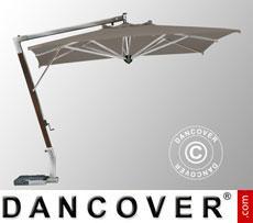 Cantilever parasol Giotto Braccio, 3x4 m, Grey taupe