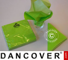Napkins, 3 layers 80 pcs. Limegreen