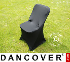 Stretch chair cover, 44x44x80 cm, Black (10 pcs.)
