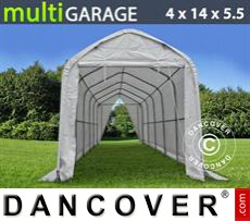 Storage shelter multiGarage 4x14x4.5x5.5 m, White