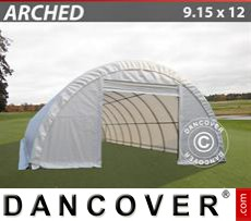 Storage shelter 9.15x12x4.5 m PVC, White