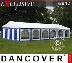 Marquee Exclusive 6x12 m PVC, Blue/White