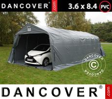 Portable Garage PRO 3.6x8.4x2.68 m PVC, with ground cover, Grey