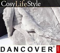 Faux Fur Blanket 130x165 cm Grey