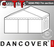 2m end section extension for Semi PRO CombiTent®, 7x2m, PVC, White