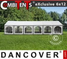 Marquee Exclusive CombiTents® 6x12m 4-in-1, Grey/White