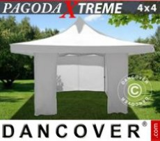 Marquee Pagoda Xtreme 4x4 m / (5x5 m) White, incl. 4 sidewalls