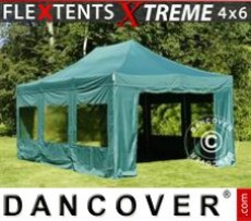 Marquee Xtreme 4x6 m Green, incl. 8 sidewalls