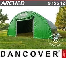 Camper Caravan Tents Storage shelter 9.15x12x4.5 m, PVC Green