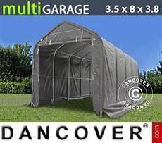 Camper Caravan Tents Storage shelter multiGarage 3.5x8x3x3.8 m, Grey
