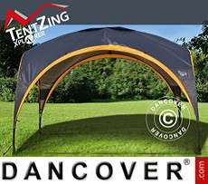 Camping shelter, TentZing®, 3.5x3.5m, Orange/Dark Grey