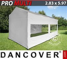 Pop up gazebo FleXtents Multi 2.83x5.87 m White, incl. 6 sidewalls