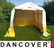 Flexshelter Work Tents Storage work tent PRO 2.4x2.4x2 m, PVC, White/Yellow, Flame retardant