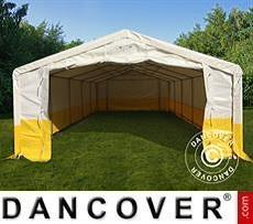 Flexshelter Work Tents Storage work tent PRO 5x10 m, PVC, White/Yellow, Flame retardant