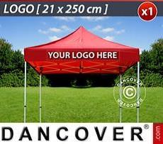Logo Print Branding 1 pc. FleXtents valance print 21x250 cm, centered