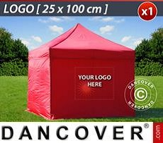 Logo Print Branding 1 pc. FleXtents sidewall print 25x100 cm