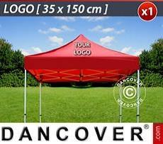 Logo Print Branding 1 pc. FleXtents roof cover print 35x150 cm