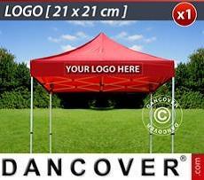 Logo Print Branding 1 pc. FleXtents valance print 21x21 cm, centered