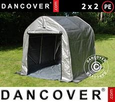 Portable Garage Storage tent PRO 2x2x2 m PE, with ground cover, Grey
