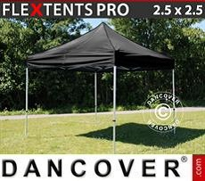 Racing tents Pop up gazebo FleXtents PRO 2.5x2.5 m Black