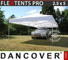 Racing tents Pop up gazebo FleXtents PRO 2.5x5 m White