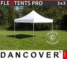 Racing tents Pop up gazebo FleXtents PRO 3x3 m White