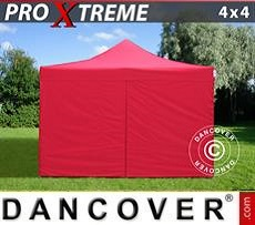 Racing tents Pop up gazebo FleXtents Xtreme 4x4 m Red, incl. 4 sidewalls