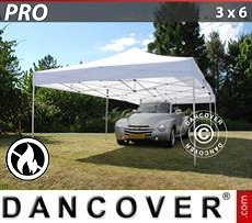 Racing tents Pop up gazebo FleXtents PRO 3x6 m White, Flame retardant