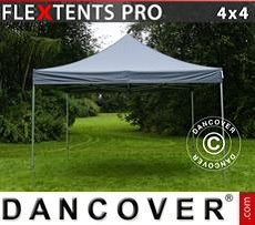 Racing tents Pop up gazebo FleXtents PRO 4x4 m Grey
