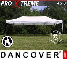Racing tents Pop up gazebo FleXtents Xtreme 4x8 m White, Flame retardant