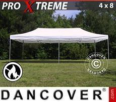 Racing tents Pop up gazebo FleXtents Xtreme 4x8 m White, Flame retardant