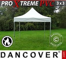 Racing tents Pop up Gazebo FleXtents Xtreme Heavy Duty 3x3 m, White