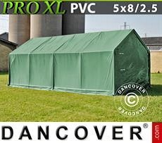 Storage shelter PRO 5x8x2.5x3,3 m, PVC, Green