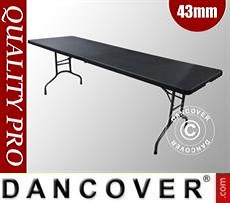 Folding Table 242x74x74cm, Black (1 pc.)