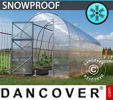 Greenhouse Polycarbonate, Duo 4 m², 2x2 m, Silver